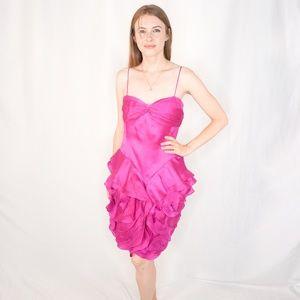 MIGNON Couture Pink Rose Cocktail Mini Dress 1274